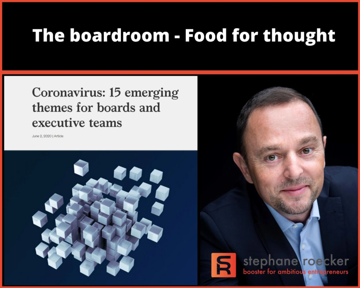 Coronavirus: 15 emerging themes for boards and executive teams