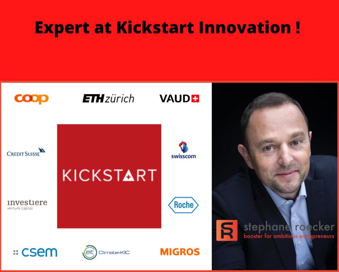 Nomination as an expert at Kickstart Innovation (Switzerland)